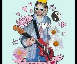 flowers, grunge, and kurt cobain image