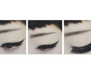 eyeliner, asian, and eyes image