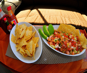 food, photography, and nachos image