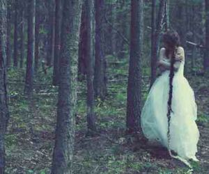 dress, freedom, and forest image