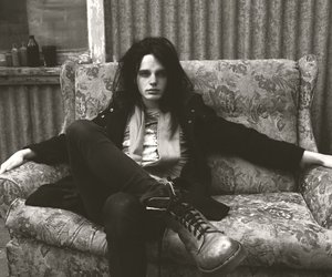 black and white, couch, and new wave image