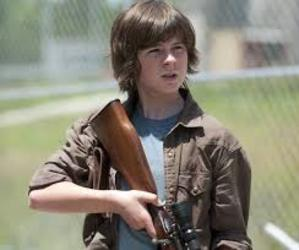 carl, sexy, and the walking dead image