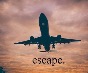 escape, travel, and sky image