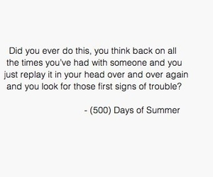 quote, 500 Days of Summer, and text image
