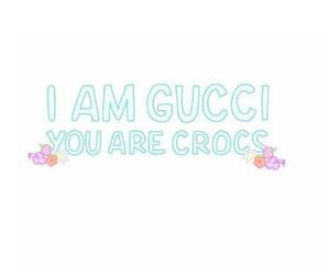 gucci, crocs, and transparent image
