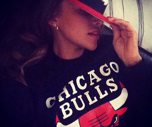 chicago bulls, girl, and sexy image