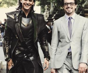 loki, iron man, and tom hiddleston image