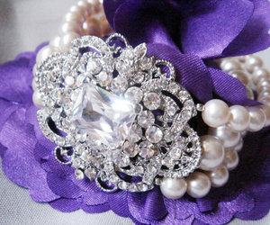 great gatsby, handmade jewelry, and pearl brACELET image