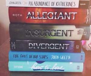divergent, the fault in our stars, and books image