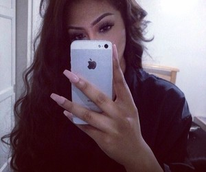 hair, iphone, and nails image