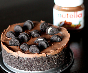 nutella, cake, and oreo image