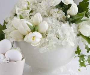 decor, eggs, and flowers image