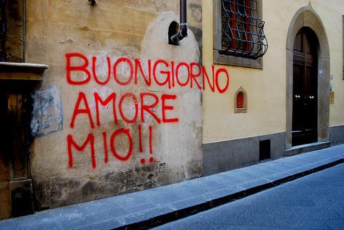 love, buongiorno, and italian image