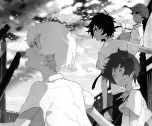 akira, monochrome, and haru image