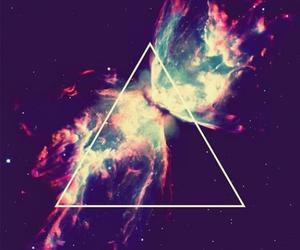 triangle, galaxy, and hipster image