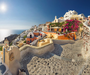 Greece and santorini image