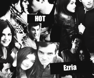 black and white, Collage, and ezra image