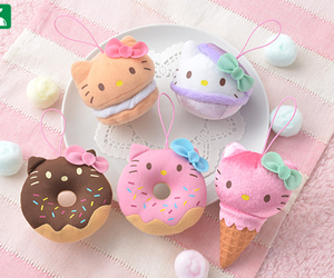 cone, doughnut, and hello kitty image