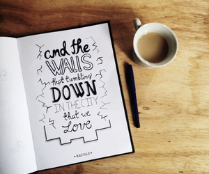 bastille, coffee, and handlettering image