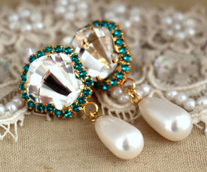 crystal, diamond, and earrings image