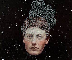 art, Collage, and cosmic image