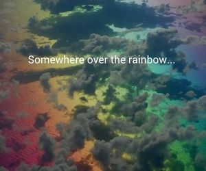 over, rainbow, and somewhere image