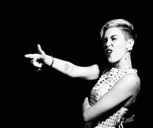 miley cyrus, black and white, and miley image