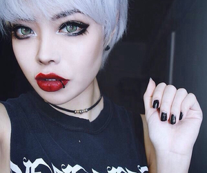 asian, beauty, and Piercings image