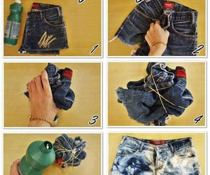 bleached, diy, and jeans image