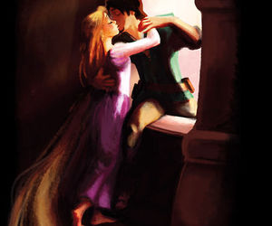 disney, rapunzel, and love image