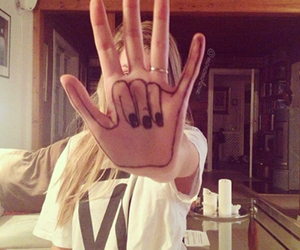girl, hand, and cool image