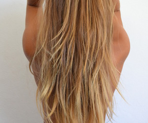blonde, long hair, and smooth image