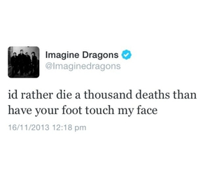 feet, twitter, and imagine dragons image