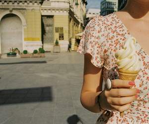 ice cream, vintage, and girl image
