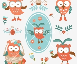 bird, Chick, and flower image