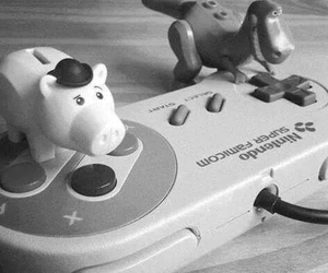 toy story, black and white, and game image