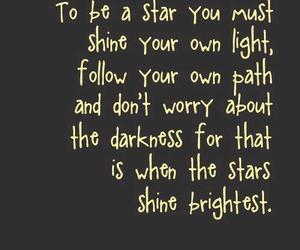 quote, stars, and shine image