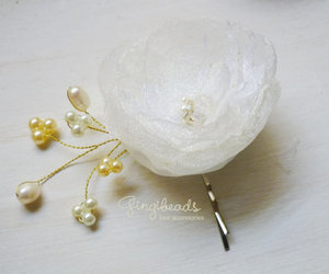 hairpins, bridalhair, and flowerhairclips image