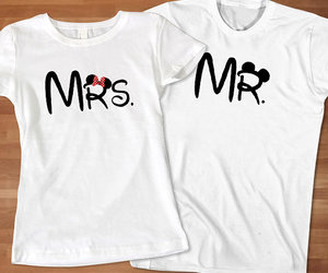couples tshirt and mrs. and mr disney image