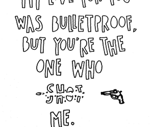 love, pierce the veil, and bulletproof image