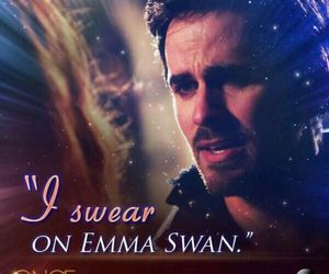 captain hook, ouat, and emma swan image