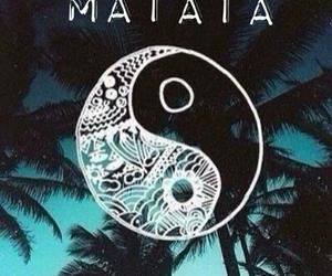 hakuna matata, ying yang, and palm image