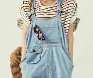 fashion, style, and overalls image