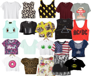 clothes, crops, and fashion image