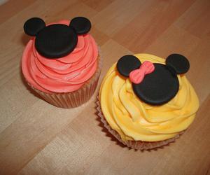 cupcake, minnie, and yum image