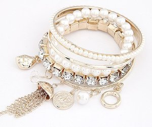 accesories, bracelet, and crystal image