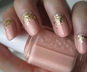gold, nails, and sexy image