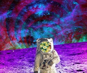 astronaut and galaxy image