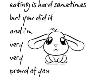 bunny, inspiration, and motivate image