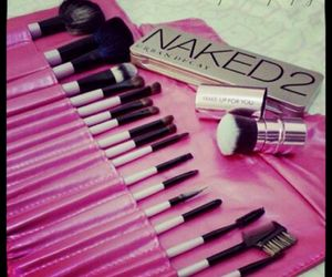makeup brushes and girly stuff image